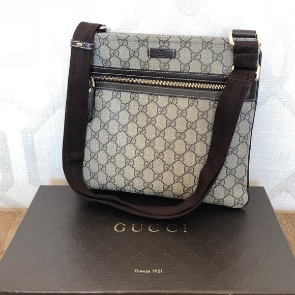 49aadd7196c Gucci Handbags - Gucci Joy GG Supreme Brown Leather Crossbody Bag